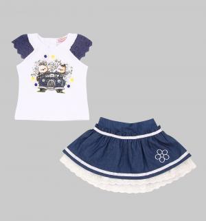 Комплект футболка/юбка , цвет: мультиколор Sleeping Baby