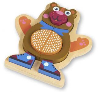 Деревянная игрушка  Пазл Медвежонок Oops