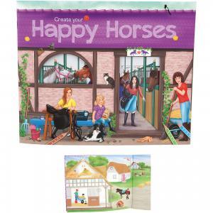 Альбом с наклейками Create your Happy Horses, Creative Studio Depesche