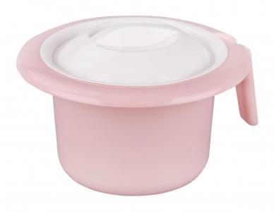 Горшок  Кроха с крышкой, цвет: розовый Альтернатива