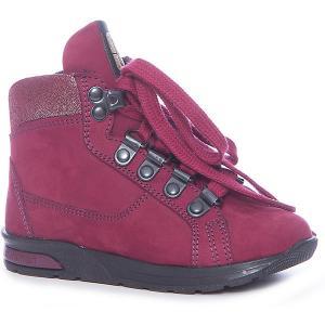 Ботинки для девочки Minimen. Цвет: бордовый