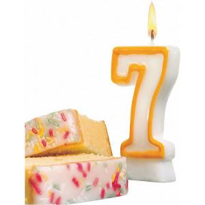 Свеча-цифра для торта  7 8,5 см, жёлтая Susy Card