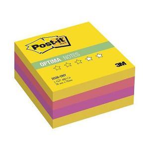 Бумага для заметок с липким слоем  Post-It Optima Лето, жёлтая неоновая радуга, 400 листов 3M. Цвет: желтый