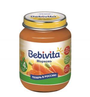 Пюре  морковь с 4 месяцев, 100 г Bebivita