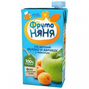 Сок  яблоко-абрикос, 500 мл ФрутоНяня
