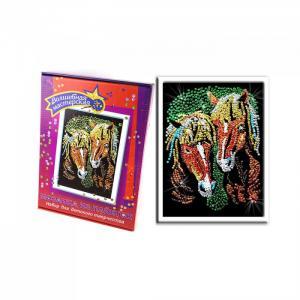 Мозаика из пайеток Лошади 035 Волшебная мастерская