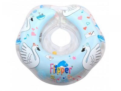 Круг для купания  Flipper 0+ на шею музыкальный ROXY-KIDS