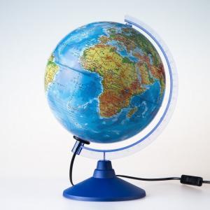 Глобус Земли физико-политический с подсветкой 250 серия Евро Globen