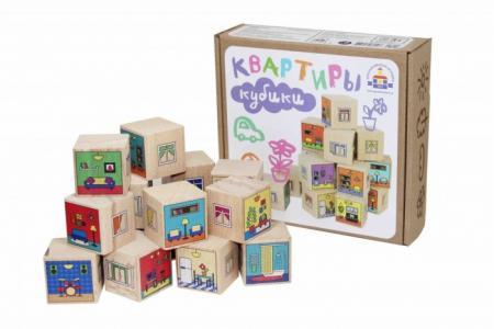 Деревянная игрушка  Кубики Квартиры Краснокамская