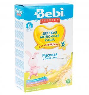 Каша  молочная рисовая с бананами 6 месяцев 250 г Bebi