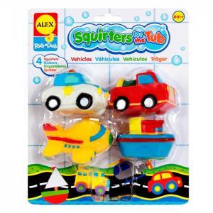 Игрушки для ванны Транспорт 4 предмета в блистере Alex