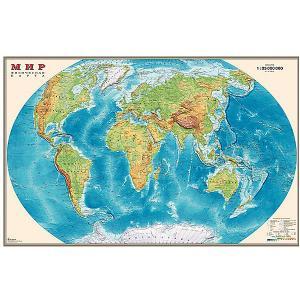 Карта Мира, Физическая, 1:35М Издательство Ди Эм Би