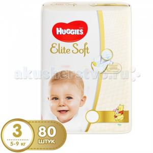 Подгузники Elite Soft Mega 3 (5-9 кг) 80 шт. Huggies