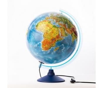 Глобус Земли физико-политический рельефный 320 с подсветкой серия Евро Globen
