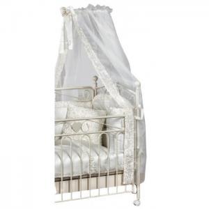 Балдахин для кроватки  тюлевый изголовья с держателем Flora Picci