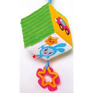 Мягкий кубик-подвеска  Малышарики Мякиши. Цвет: разноцветный