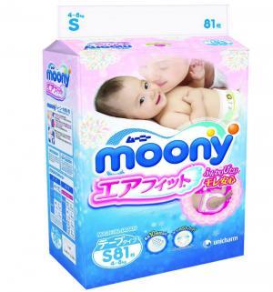 Подгузники  S (4-8 кг) 81 шт. Moony