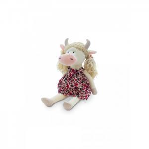 Мягкая игрушка  Коровка Варвара в цветном сарафане 22 см Maxitoys