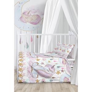 Комплект детского постельного белья  Unicorns Juno. Цвет: разноцветный