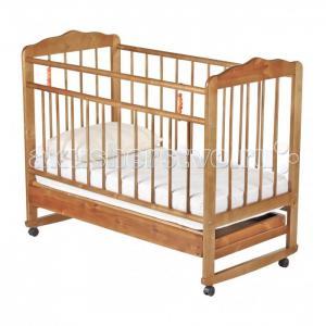 Детская кроватка  Женечка-4 колесо-качалка с ящиком Russia