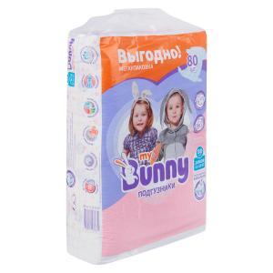 Подгузники  с канальцами Junior (11-18 кг) 80 шт. My Bunny