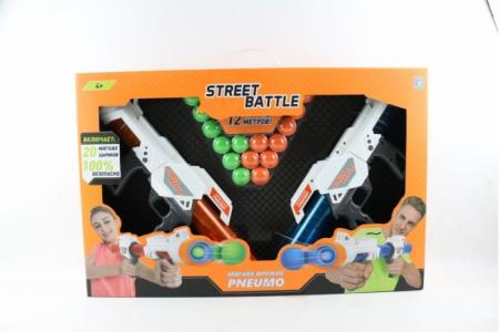Игрушечное оружие Street Battle с мягкими шариками 20 шт. 1 Toy