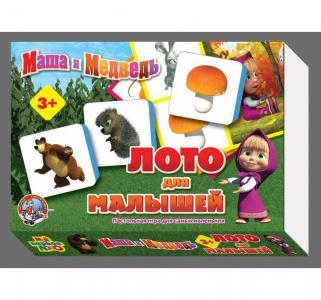 Настольная игра  Лото для малышей Маша и Медведь