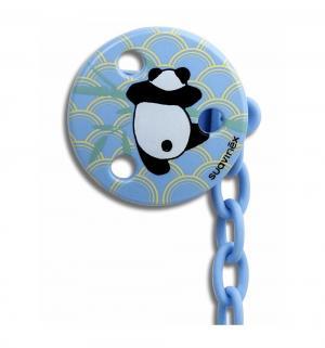 Держатель для пустышки  Панда, с рождения, цвет: голубой Suavinex