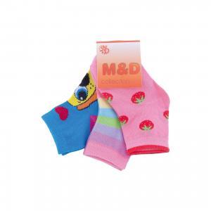 Носки  для девочки M&D. Цвет: разноцветный