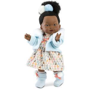 Кукла  Валерия африканка, 28 см Llorens. Цвет: белый