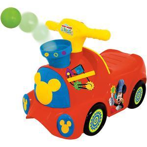 Каталка-пушкар Паровозик Микки Маус с шарами Kiddieland. Цвет: красный