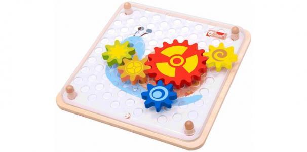Деревянная игрушка  Мозаика Шустрые шестерёнки Classic World