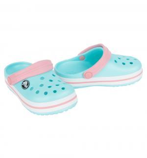 Сабо  Crocband Clog Kids, цвет: белый/голубой Crocs