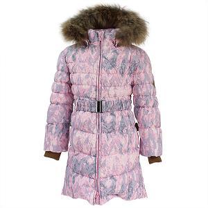Пальто YASMINE  для девочки Huppa. Цвет: розовый