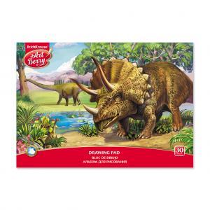 Альбом для рисования А4 30л  на клею Эра динозавров ArtBerry
