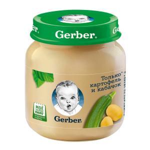 Пюре  только картофель-кабачок, с 5 месяцев, 130 г Gerber