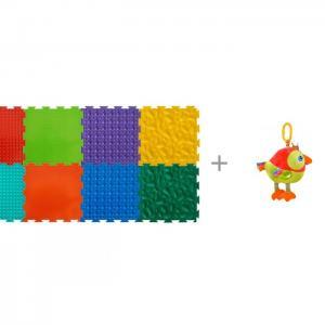 Игровой коврик  модульный Набор №2 Малыш и Подвесная игрушка Forest Попугай Музыкальная ОртоДон