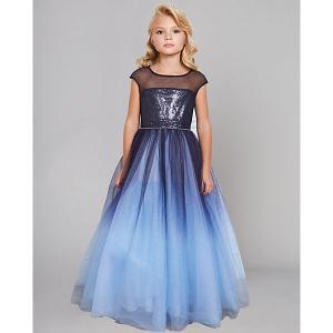 Нарядное платье Choupette. Цвет: синий