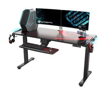 Стол для компьютера c электрической регулировкой по высоте и RGB-подсветкой ERK-EGD-S62B Eureka