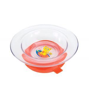 Тарелка  Русские мотивы с присоской, цвет: оранжевый Lubby