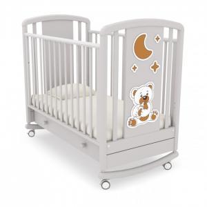Детская кроватка  Жаклин Мишка с соской качалка Angela Bella