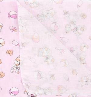 Пеленка 110 х 80 см, цвет: розовый Звездочка