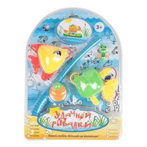 Игровой набор  Удачной рыбалки желто-зеленый Tongde