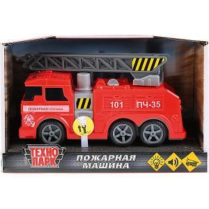 Пожарная машина Технопарк, свет и звук, 17 см ТЕХНОПАРК