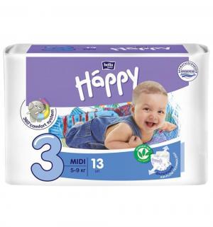 Подгузники  Baby Happy Midi 3 (5-9 кг) 13 шт. Bella