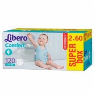 Подгузники Comfort Size 4 (7-14кг), 120 шт. Libero