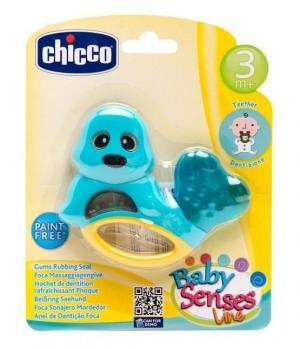 Погремушка с прорезывателем  Тюлень, цвет: голубой Chicco