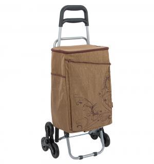 Сумка-термос  для хранения питания Wheeled Shopping Trolley на колесиках, цвет: коричневый Thermos
