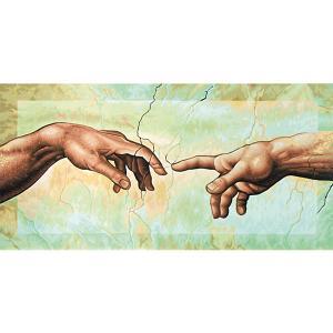 Картина по номерам  Репродукция Сотворение Адама» Микеланджело Буонаротти, 40х80 см Schipper. Цвет: разноцветный