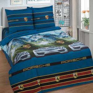 Комплект постельного белья  Адреналин, цвет: синий 4 предмета Артпостель